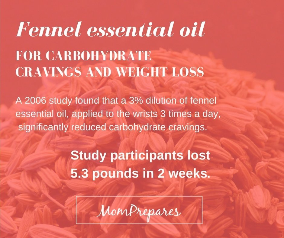 Fennel essential oil for carb cravings 1