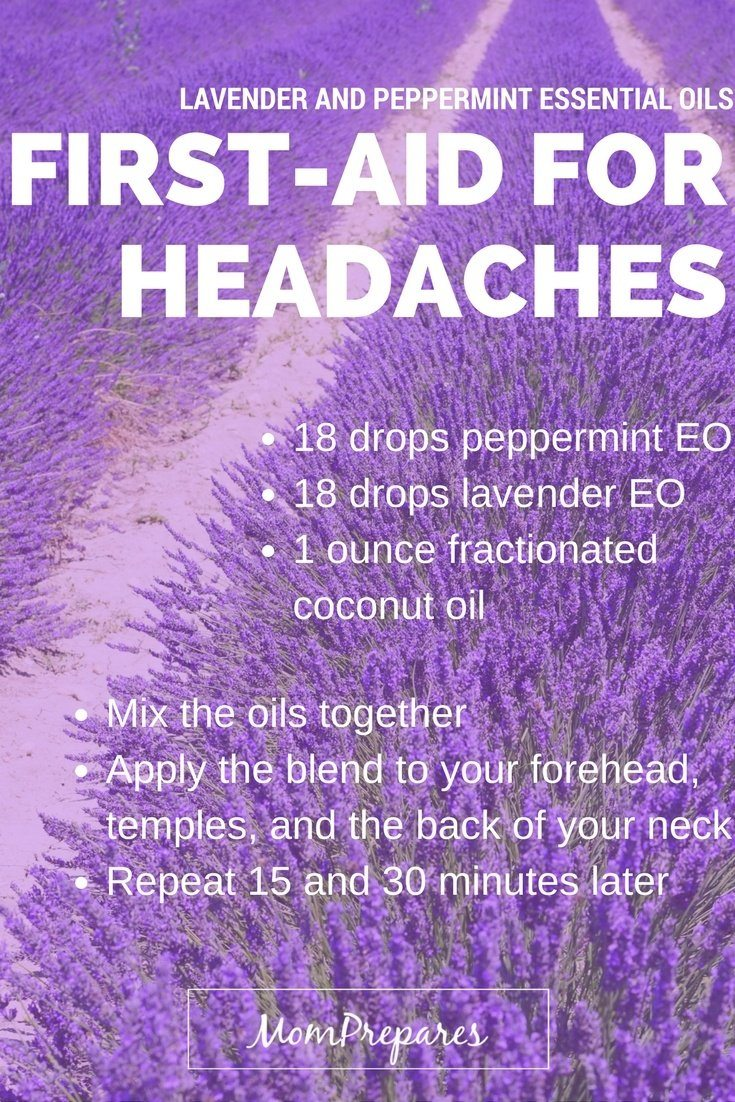 First aid for headaches with essential oils 1