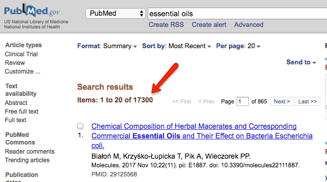 essential oils pubmed