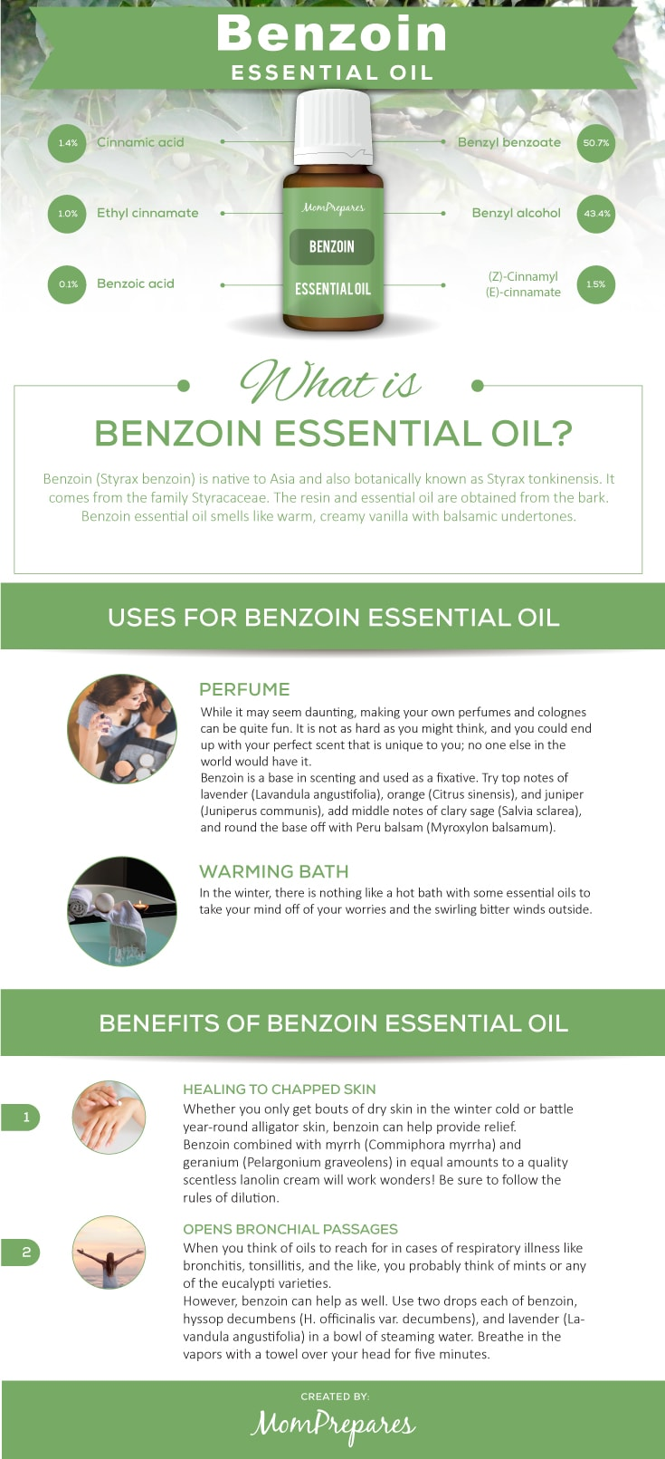 Benzoin infographic
