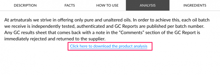 art naturals gc ms report