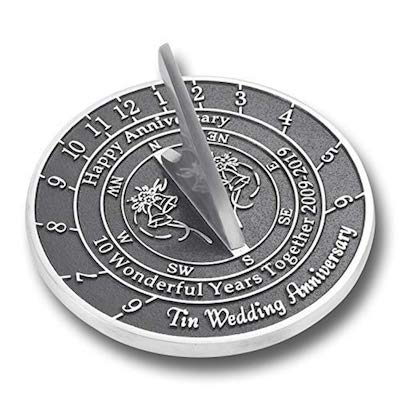 Metal Foundry Wedding Anniversary Sundial