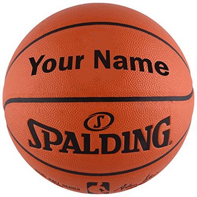 Personalized Spalding NBA Basketball