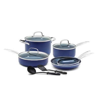 Blue Diamond Ceramic Cookware Set