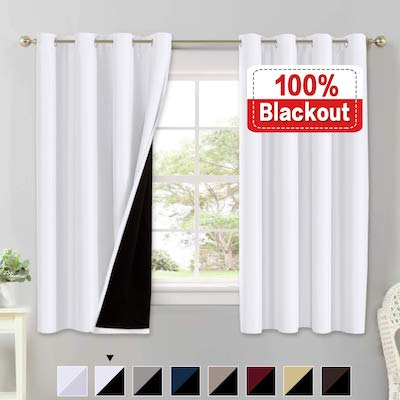 Flamingo P Blackout White Curtains