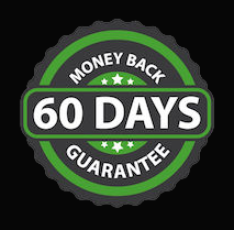 60-day money-back guarantee seal