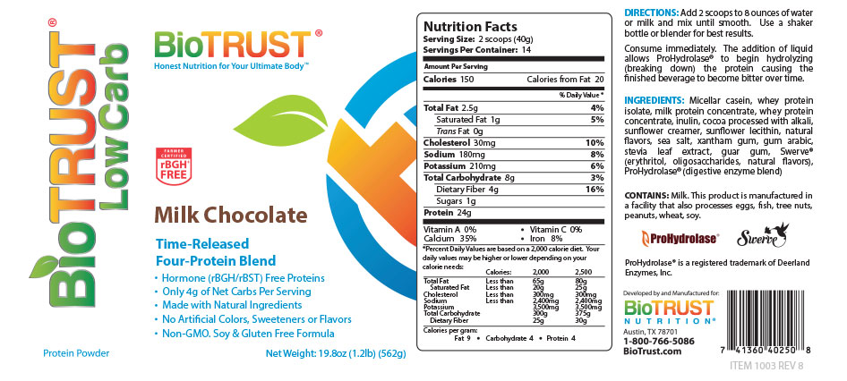 BioTrust Low Carb Nutrition and Ingredients
