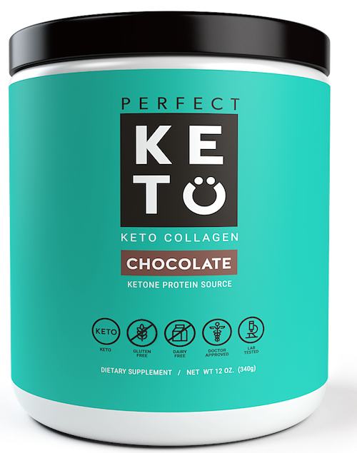 Perfect Keto Collagen Chocolate Powder