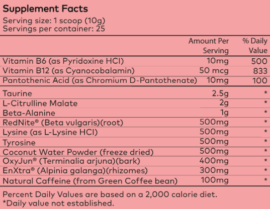 powher nutrition facts