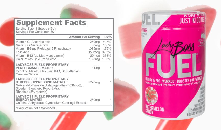 ladyboss fuel ingredients and nutrition facts